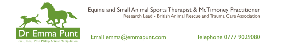 Equine and Canine McTimoney Chiropractic | Emma Punt